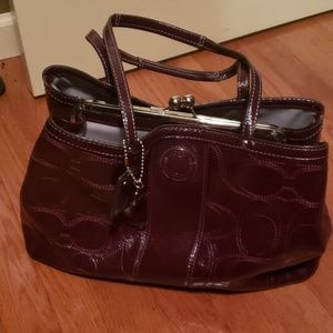 Purple COACH handbag
